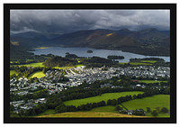L1001295 The Borrowdale and Newlands Valley Fells over Keswick from Latrigg