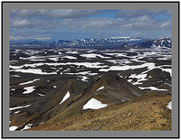 A 3890 West over lava fields from Hlidarfjall