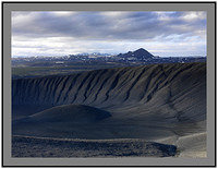 A 4030 Hlidarfjall over the crater rim of Hverfjall