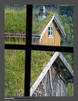 O125222 Nordland County Through the Window Sami Village Kjelvik