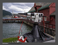 O120984 Whaling harpoon Tromso Harbour