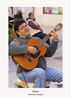 Palma-guitarist in Placa Salut