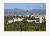 Palma-the Serra de Tramuntana from Castell de Bellver