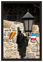 46E6890 Street lamp and flags-Potes