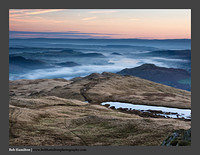 O126423 Dawn breaking on Ullswater and the Pennines from Place Fell
