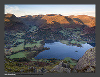 O126454 Daybreak on Glenridding St Sunday Crag Grisedale and the Helvellyn range from Place Fell