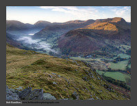 O126465 Daybreak on Red Screes Deepdale and St Sunday Crag from Place Fell