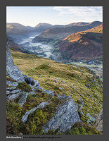 O126512 Daybreak on Brothers Water Red Screes and Deepdale from Place Fell