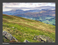 O125715 Grasmere and the Coniston and Langdale Fells from Heron Pike