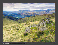 O125797 Grasmere and the Coniston and Langdale Fells from Great Rigg