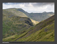 O125879 Dollywagon Pike and Helvellyn from Great Rigg