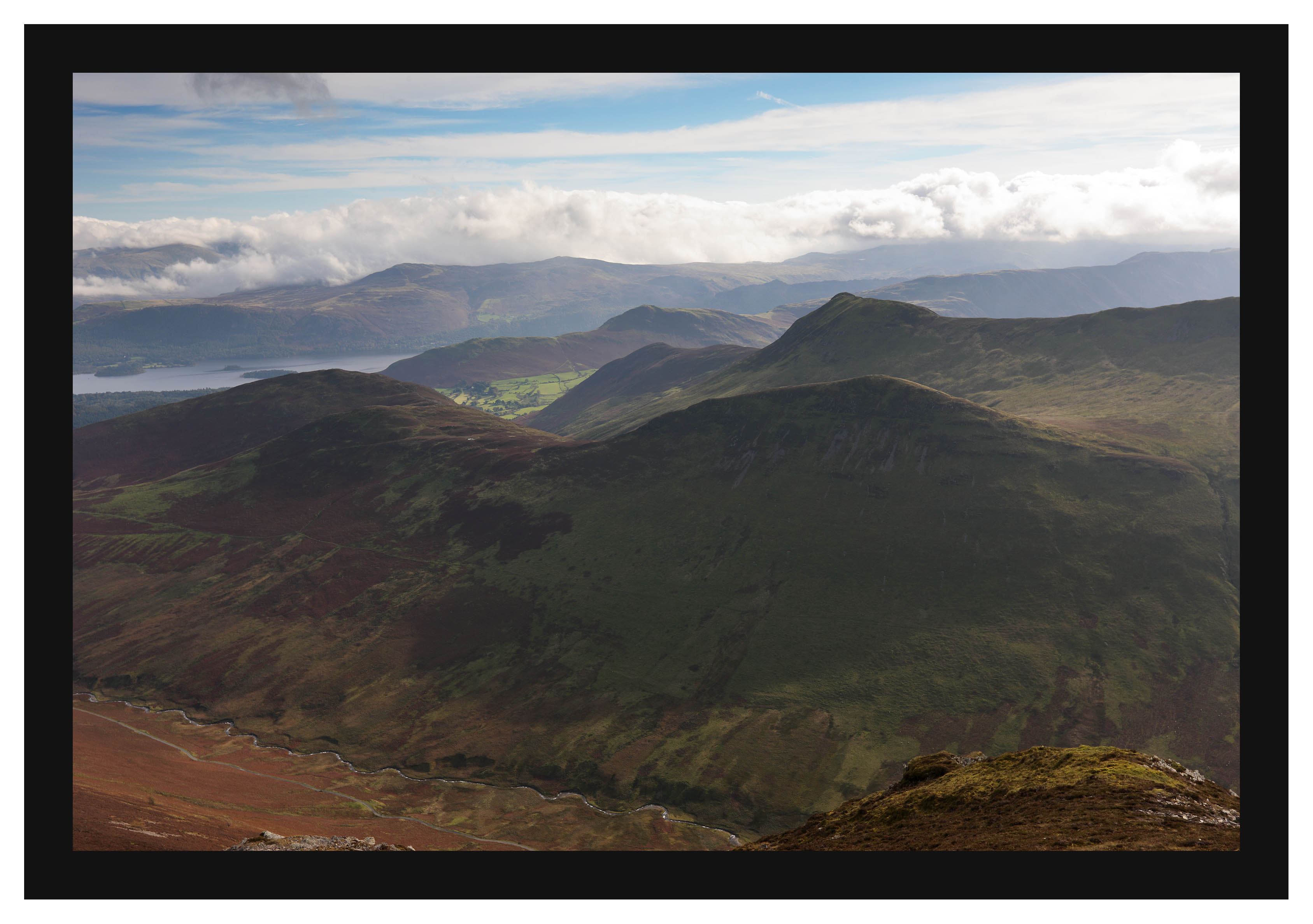 46E7379 Outerside Barrow and Causey Pike from Grisedale Pike