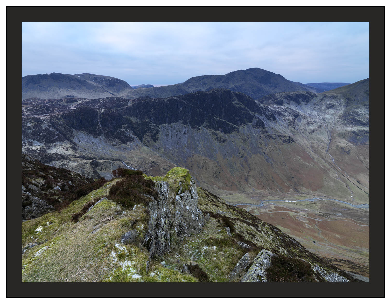 A 00649 Kirk Fell and Pillar over Haystacks from Fleetwith Pike