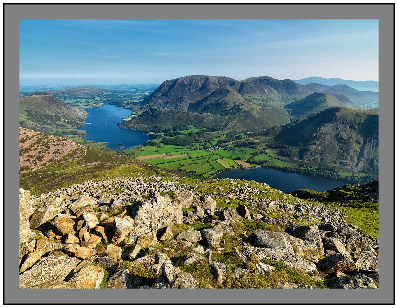A 09694 Early morning light on Crummock Water and Buttermere from High Stile