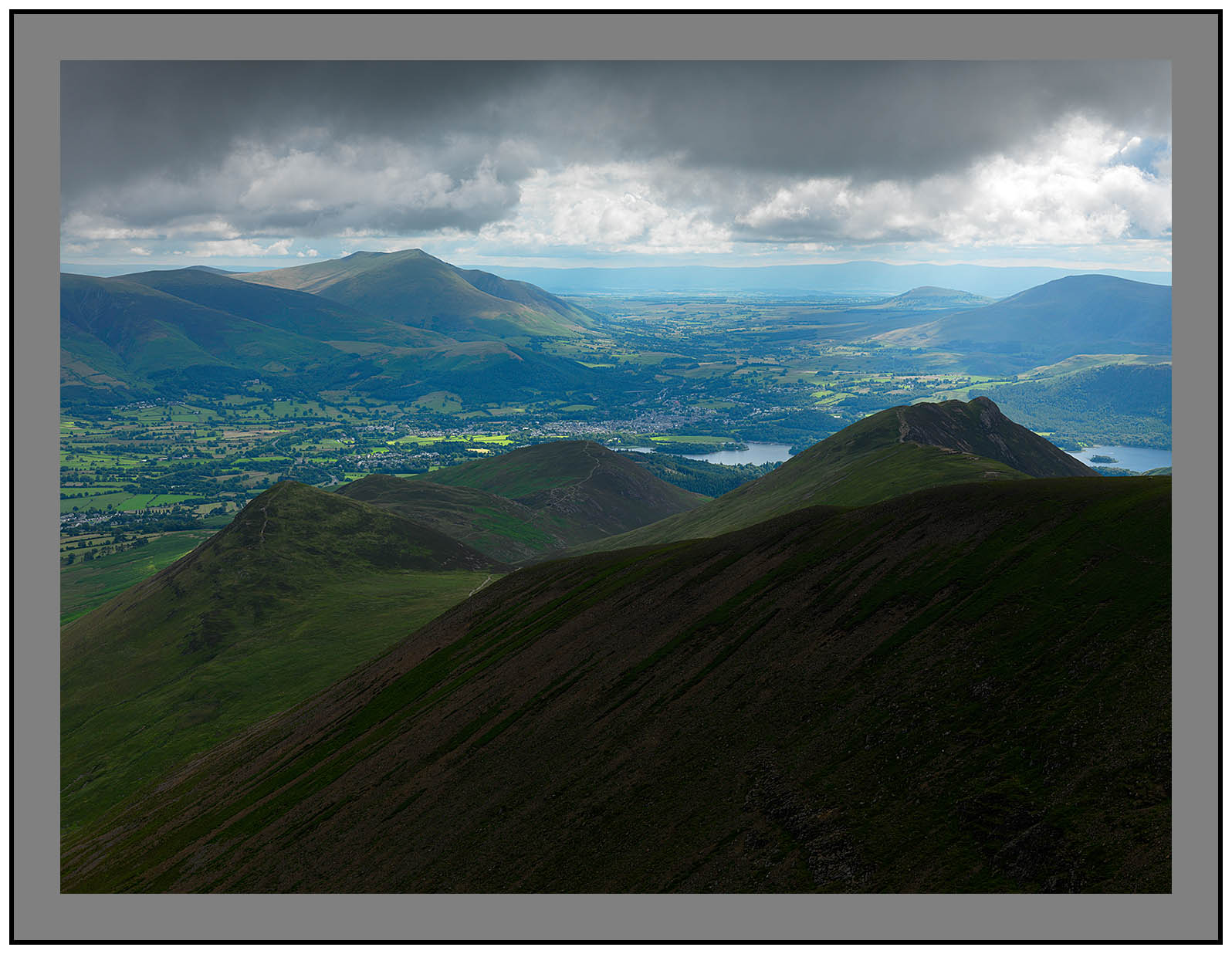 A 5159 Blencathra and the Vale of Keswick from Crag Hill