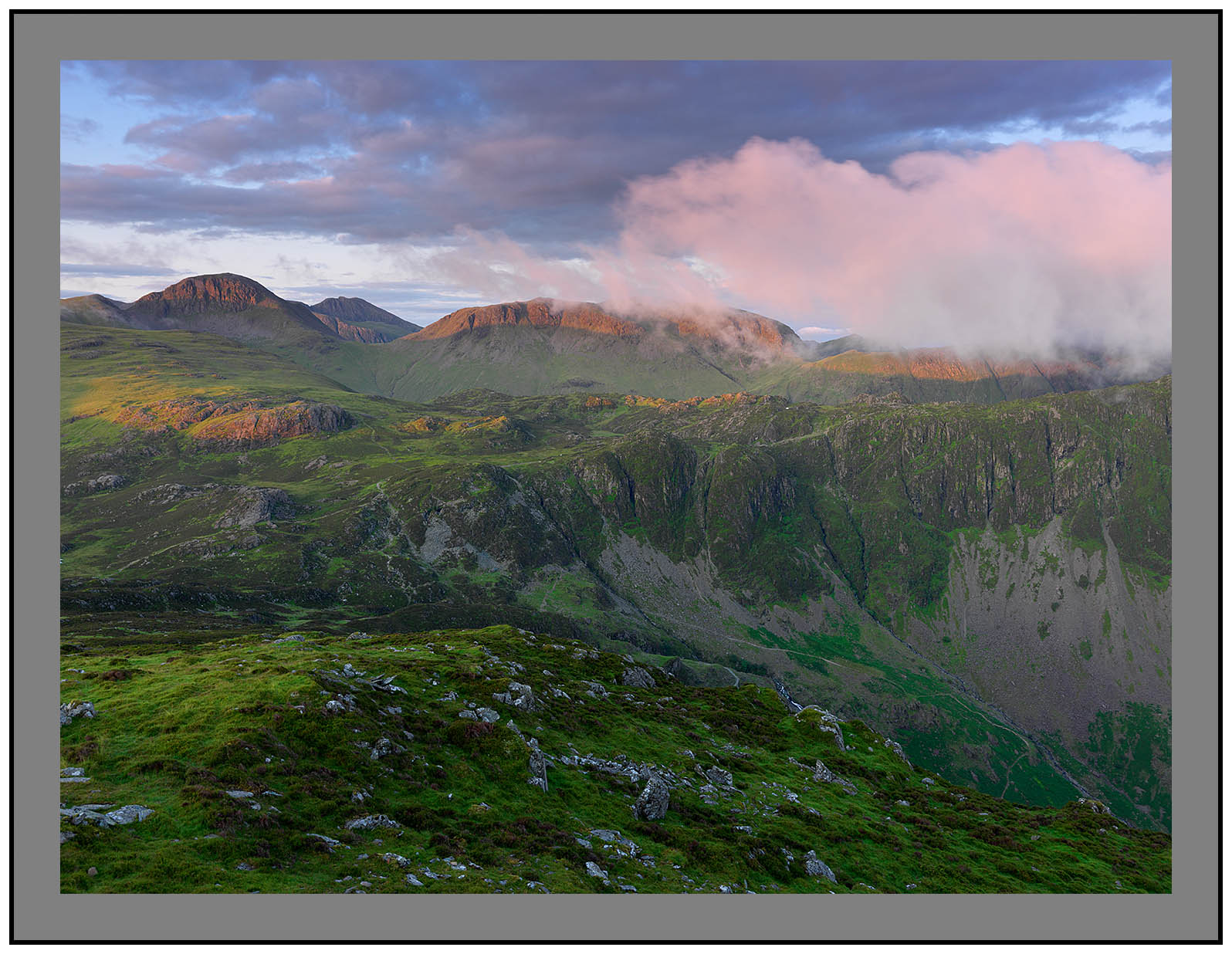 A 5179 Daybreak on Great Gable Scafell and Kirk Fell