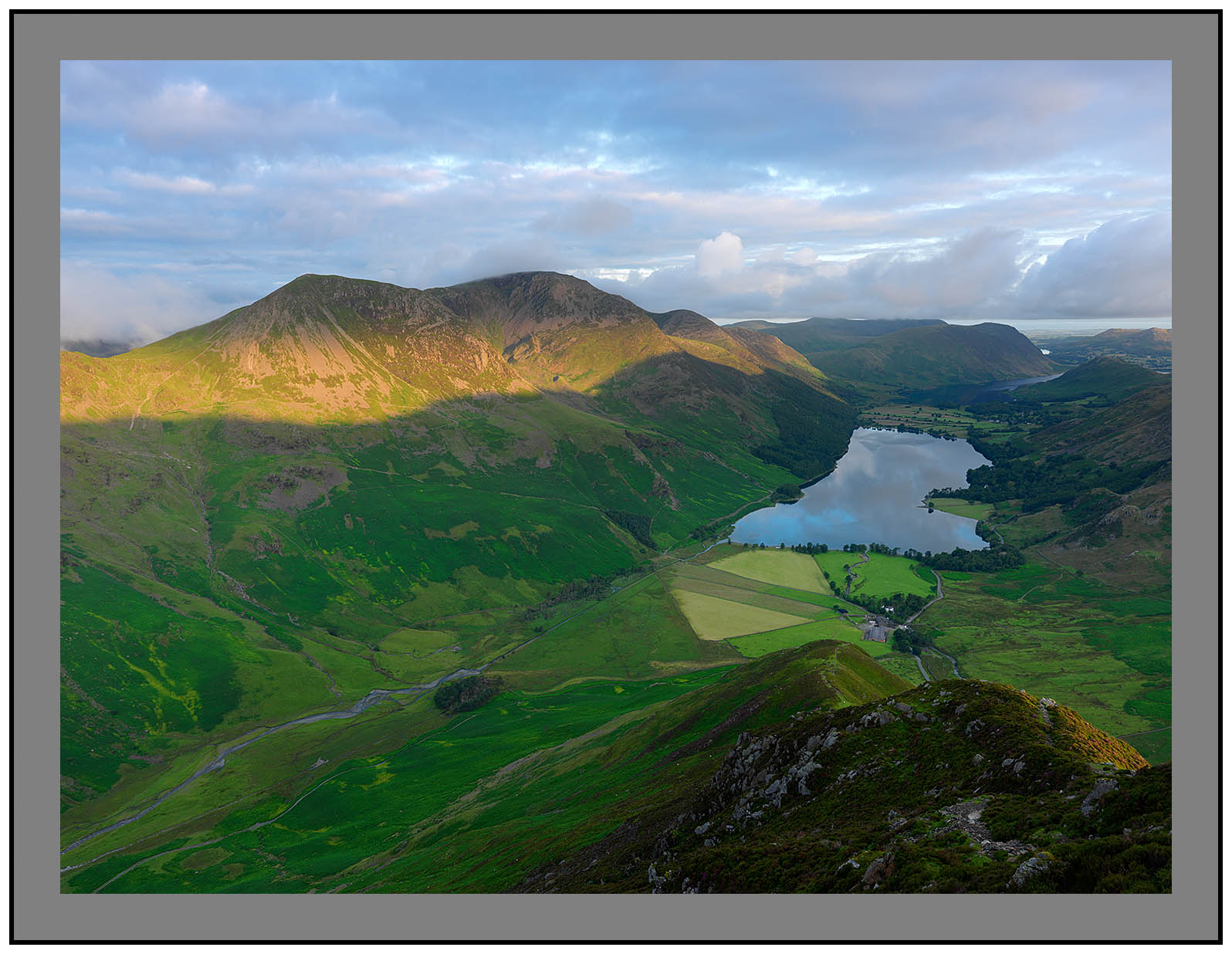 A 5226 First Light on Buttermere from Fleetwith Pike