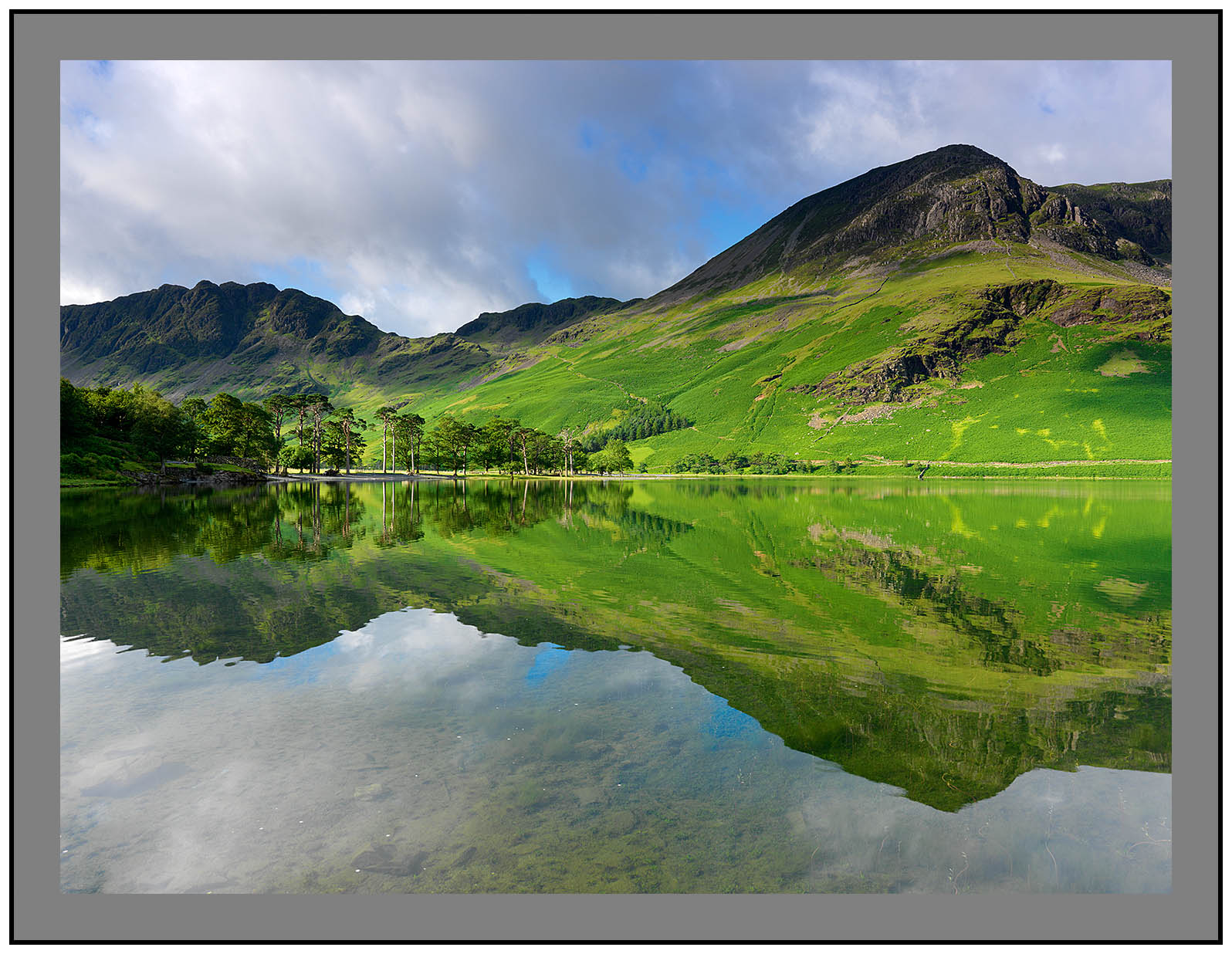 A 5334 Buttermere-Haystacks and High Crag in perfect symmetry