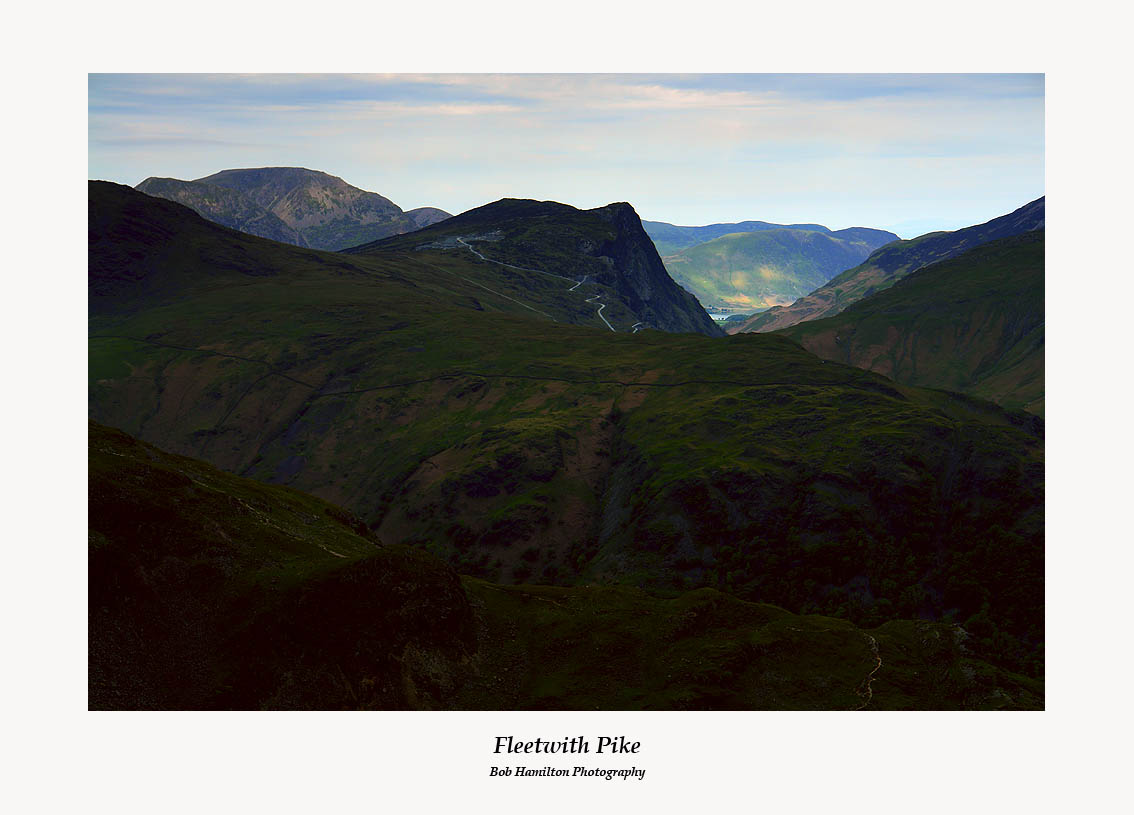 Fleetwith Pike and the Buttermere Fells from Rosthwaite Cam
