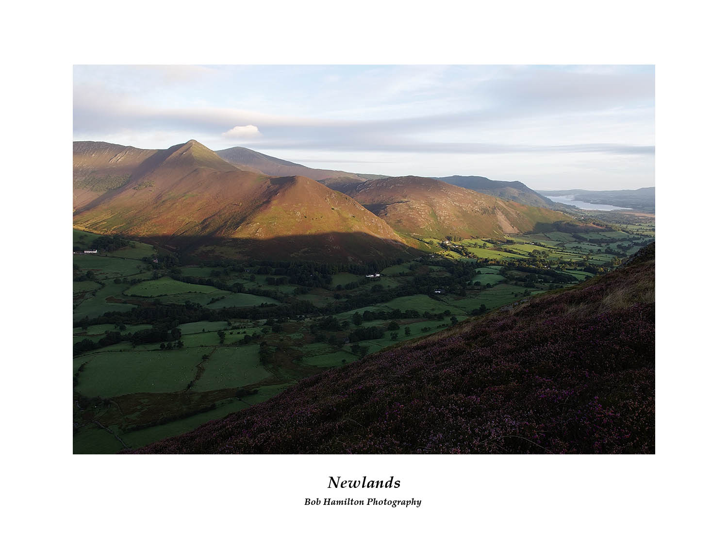 DSF1147 Early morning light on Causey Pike Bassenthwaite Lake and Newlands from Cat Bells