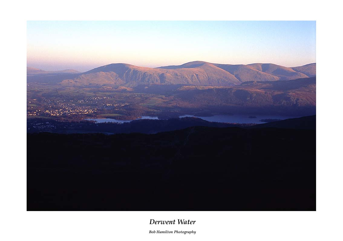 Derwent Water from Grisedale Pike