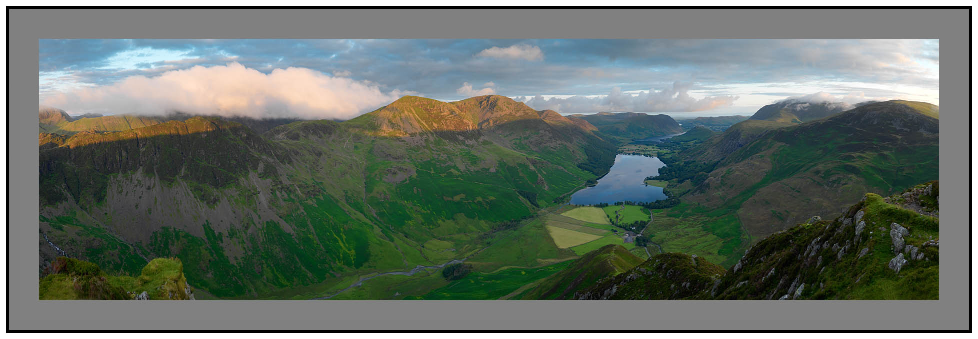 Fleetwith Pike Panorama-from Kirk Fell to Robinson