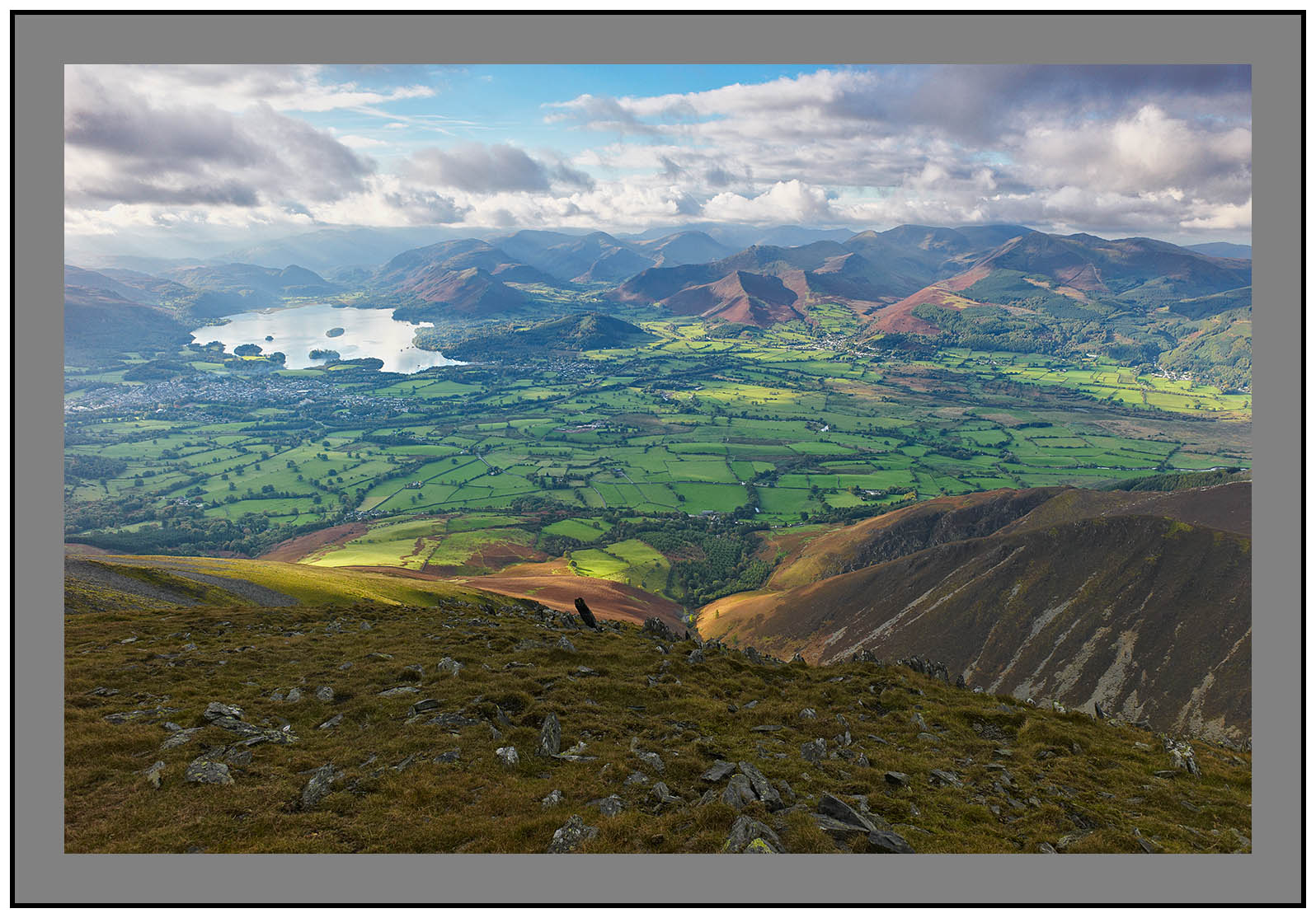 L1000301a Derwent Water and the western fells from Skiddaw Little Man