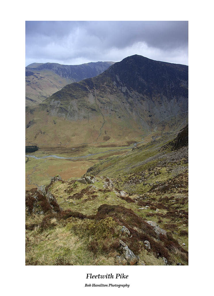 Fleetwith Pike with Hindscarth and Dale Head beyond seen from Scarth Gap