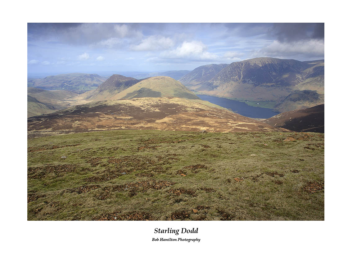 Mosedale Mellbreak Crummock Water and Grasmoor seen from Starling Dodd