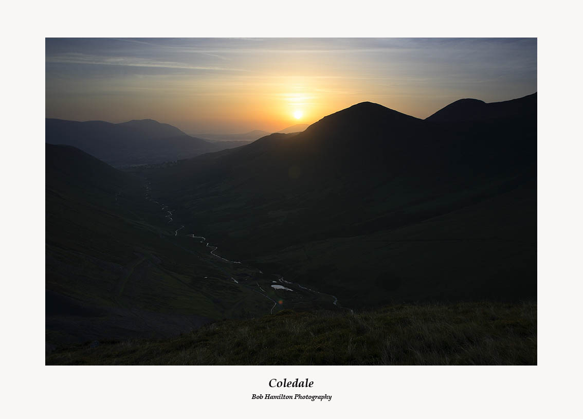 Sunrise over Keswick and Coledale from Coledale Hause