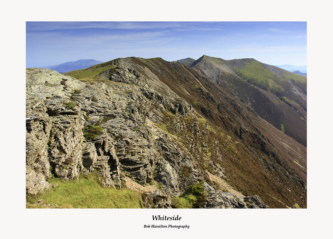 The Whiteside ridge and Hopegill Head from Whiteside