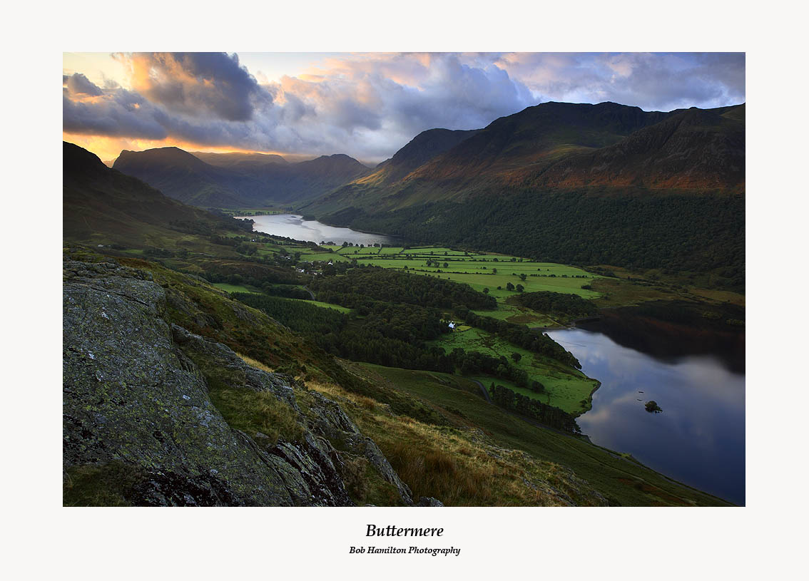 Sunrise on Buttermere from Rannerdale Knotts