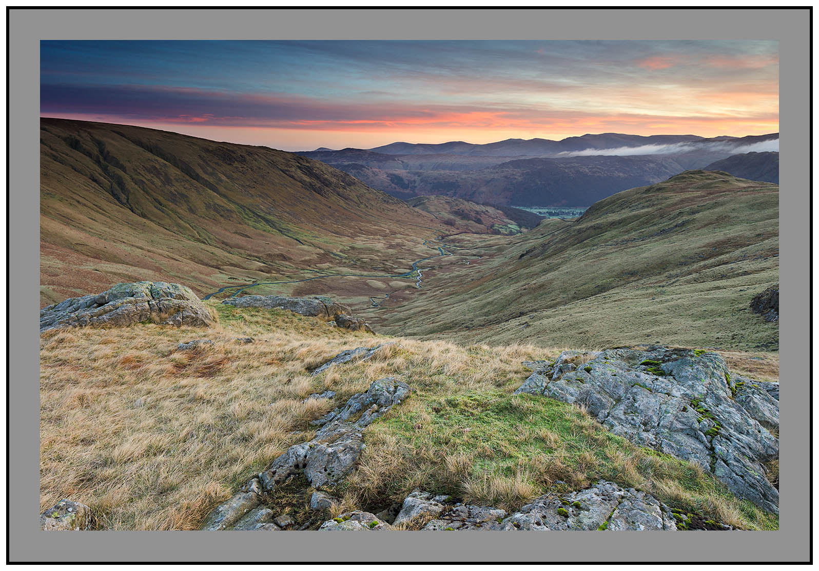 S2014375 Sunrise over Borrowdale from Grey Knotts