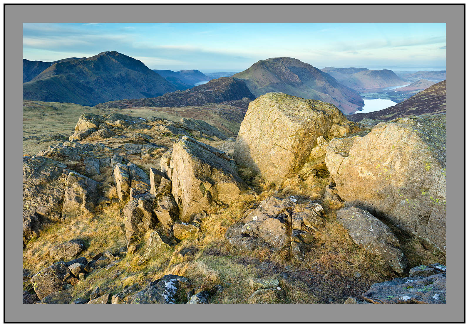 S2014423 Daybreak on Pillar Mountain Haystacks High Stile Buttermere and Crummock Water from Grey Knotts