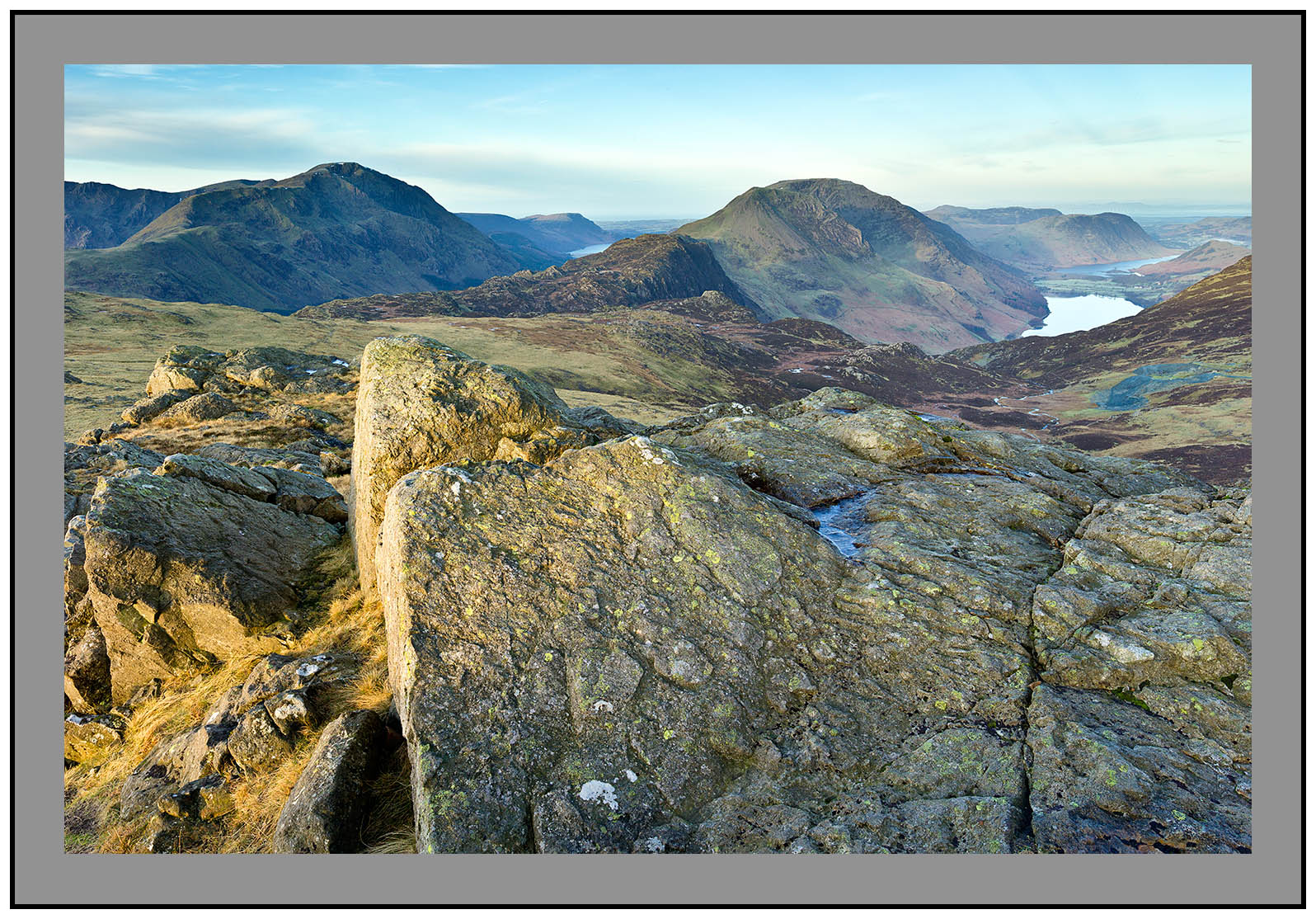 S2014437 Daybreak on Pillar Mountain Haystacks High Stile Buttermere and Crummock Water from Grey Knotts