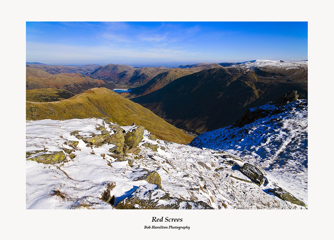 Middle Dodd Brothers Water and Caudale Moor from Red Screes