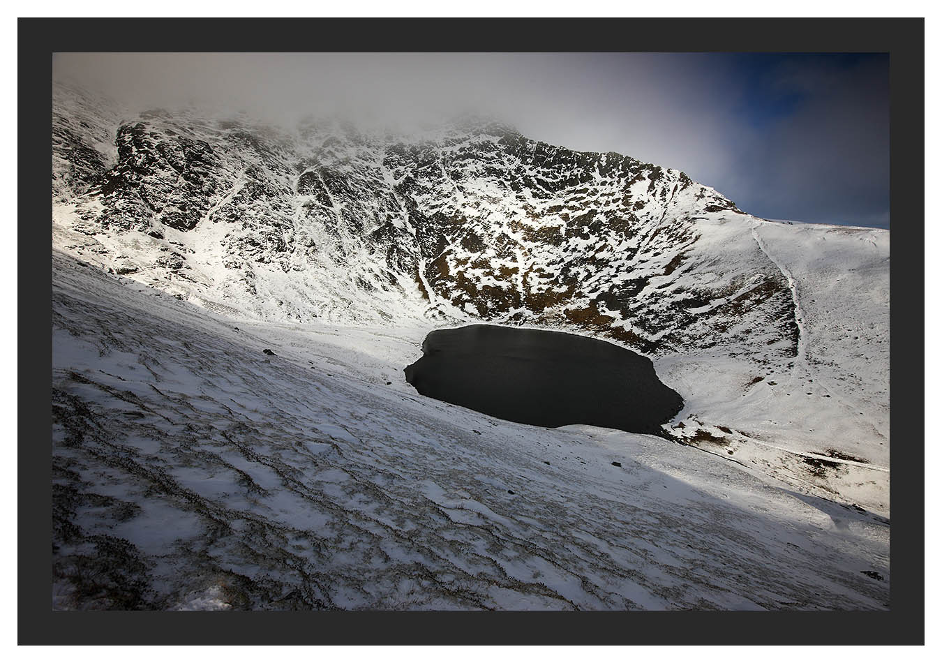 46E1985 Sharp Edge over Scales Tarn Blencathra