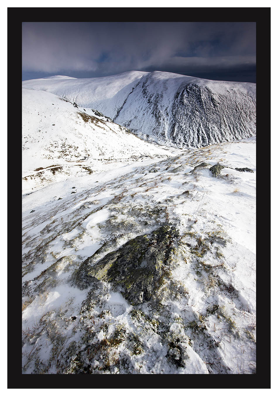46E1994 Bowscale Fell and Bannerdale Crags from Scales Fell Blencathra