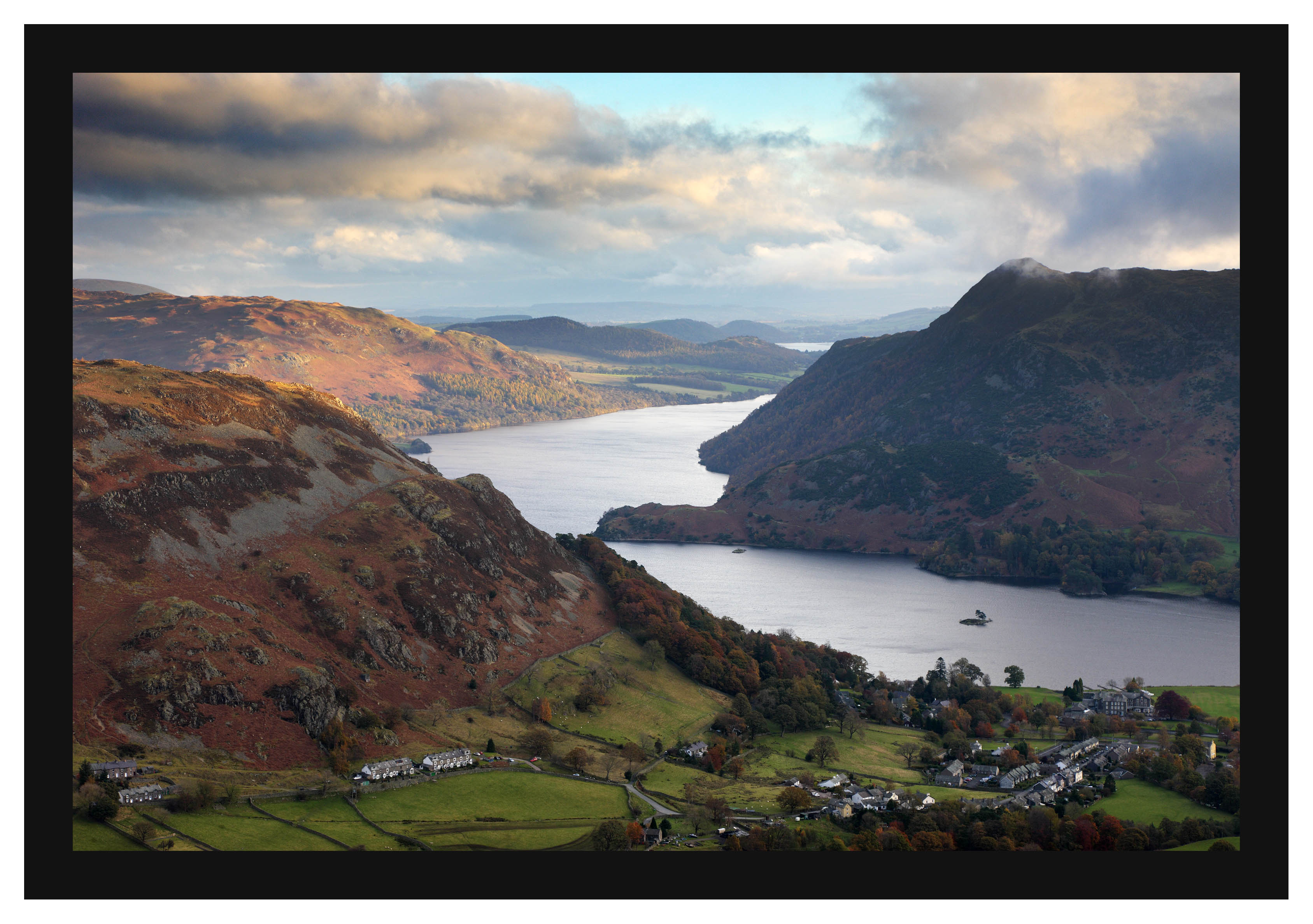 46E7611 Glenridding and Ullswater from Birkhouse Moor