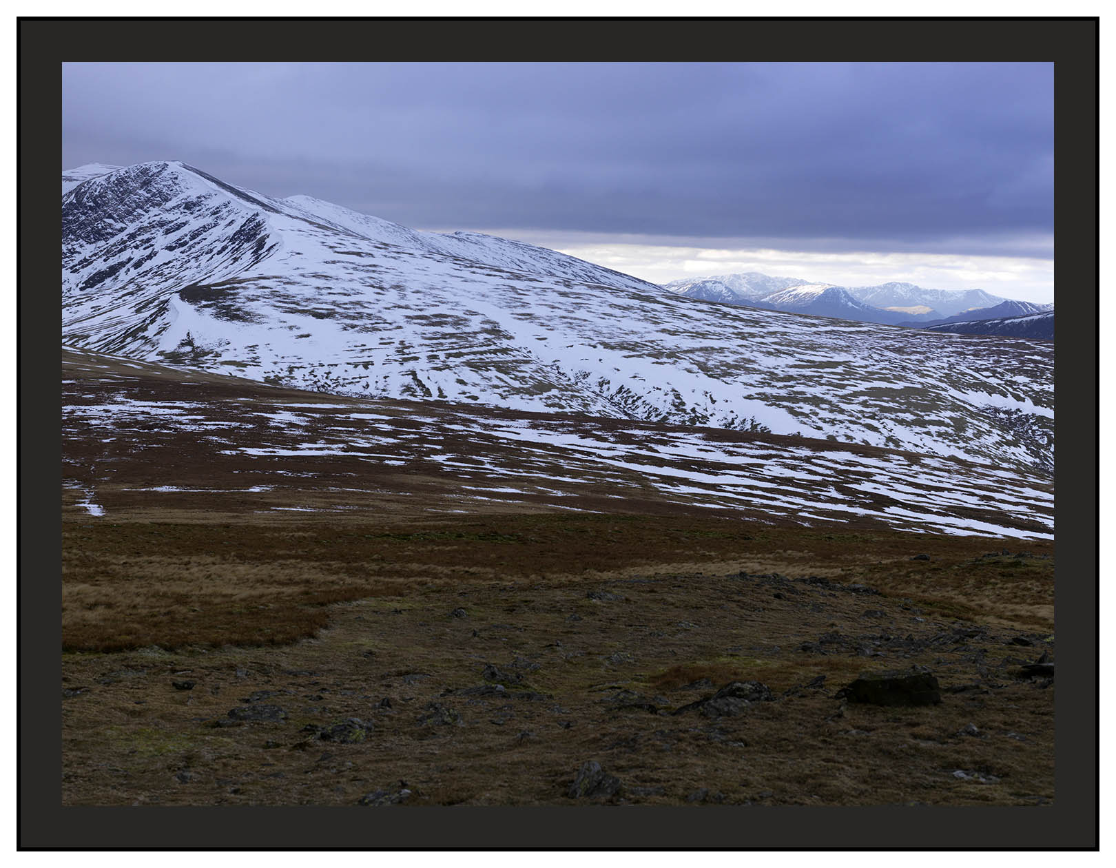 A 01245 Blencathra and the wetern fells from Bowscale Fell