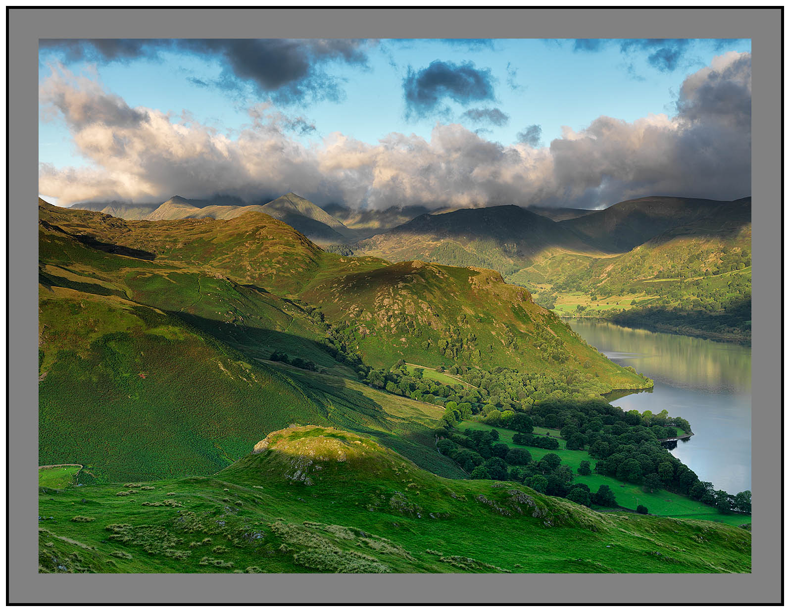 A 09797 Daybreak on High Knott Birk Fell and the Helvellyn massif from Hallin Fell