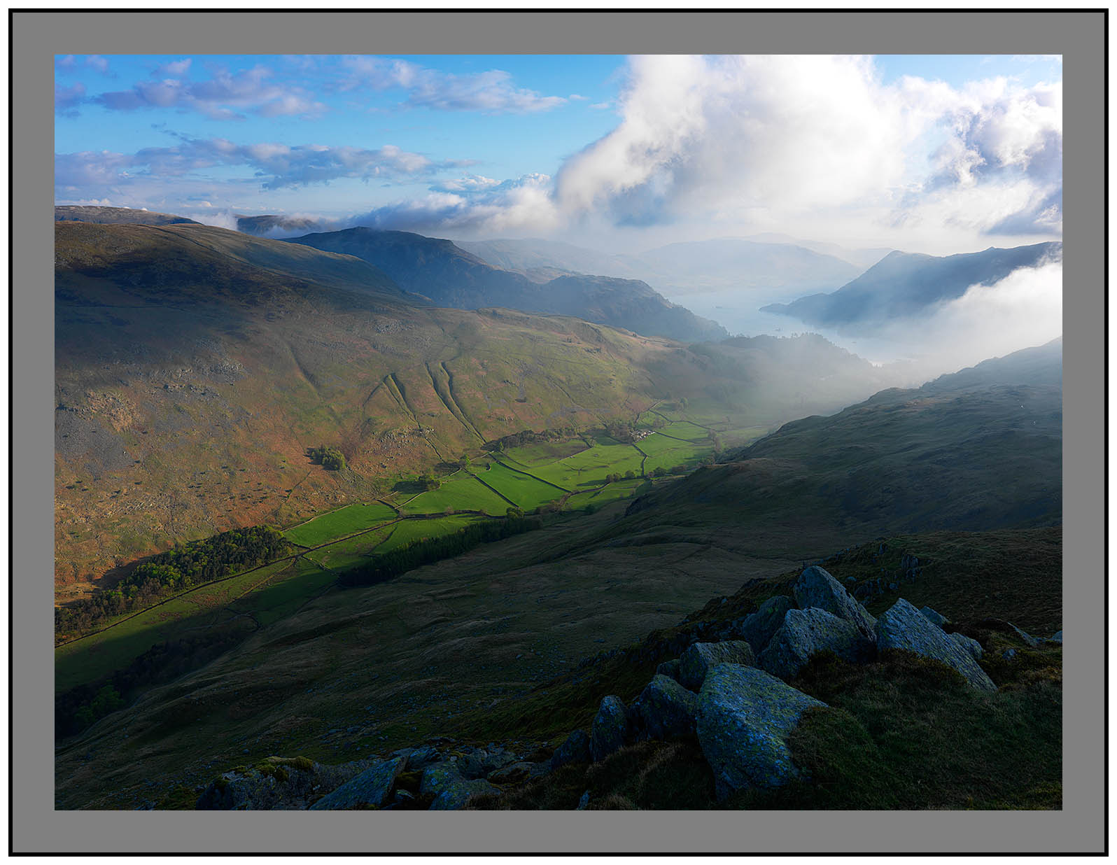 A 3055 Grisedale and Ullswater from St Sunday Crag