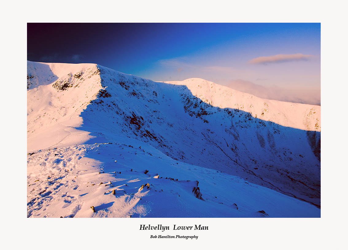 Helvellyn Lower Man and Swirral Edge from Catseye Cam