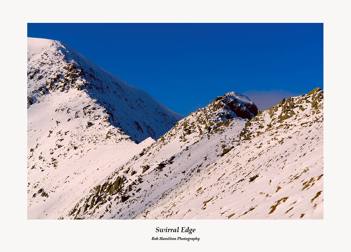 Climbers on Swirral Edge Helvellyn
