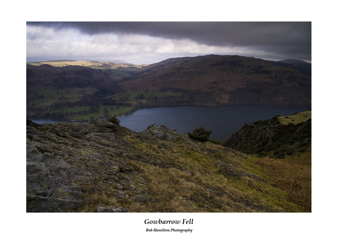 Gowbarrow fell across Ullswater from Birk Fell