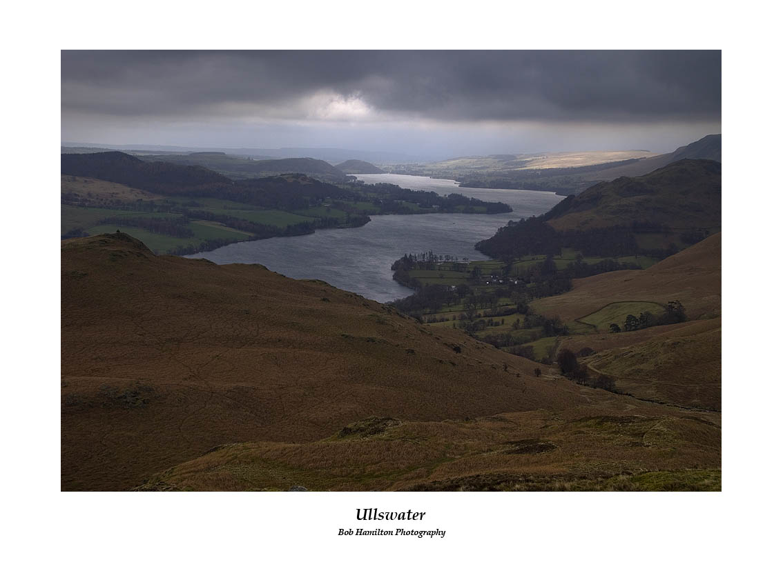 Ullswater over Sandwick from Bleaberry Knotts on a stormy March day
