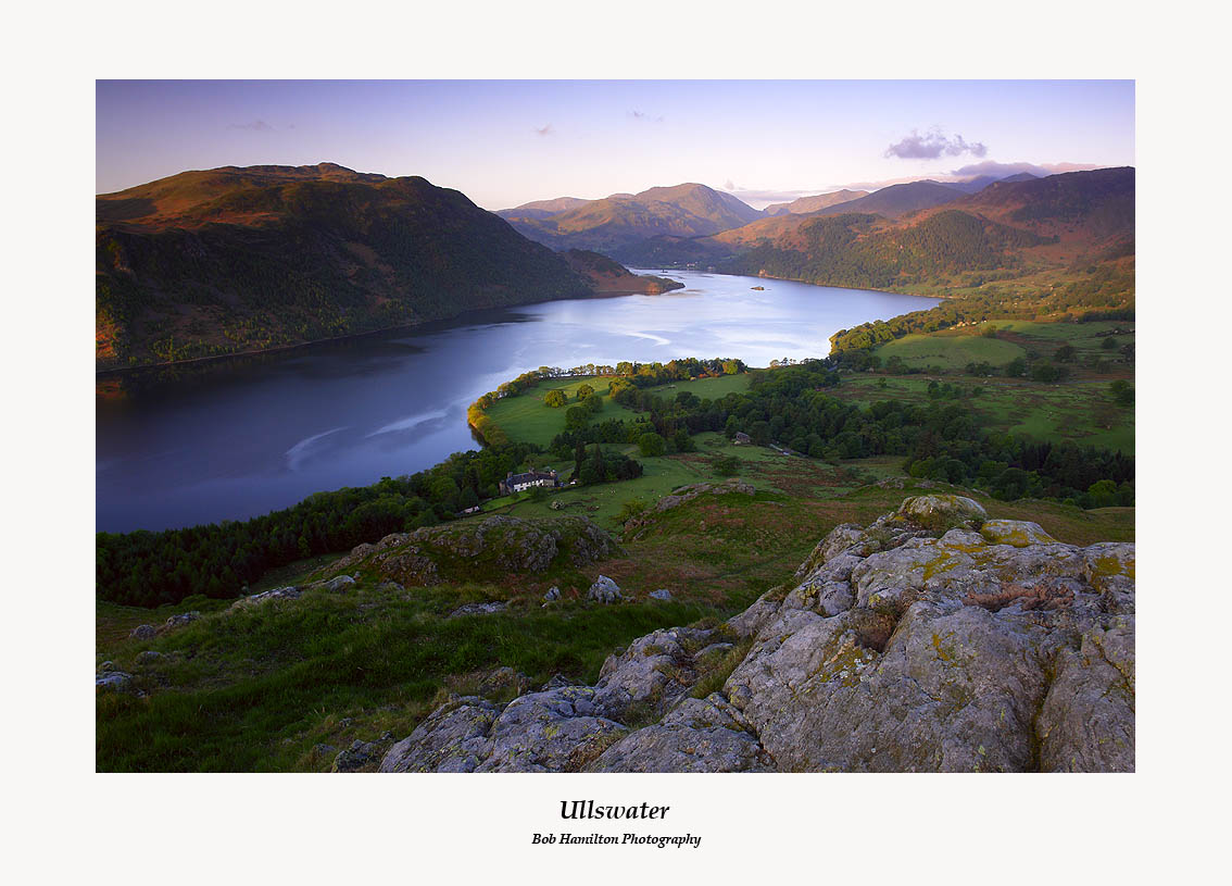 Daybreak over Ullswater from Gowbarrow Fell