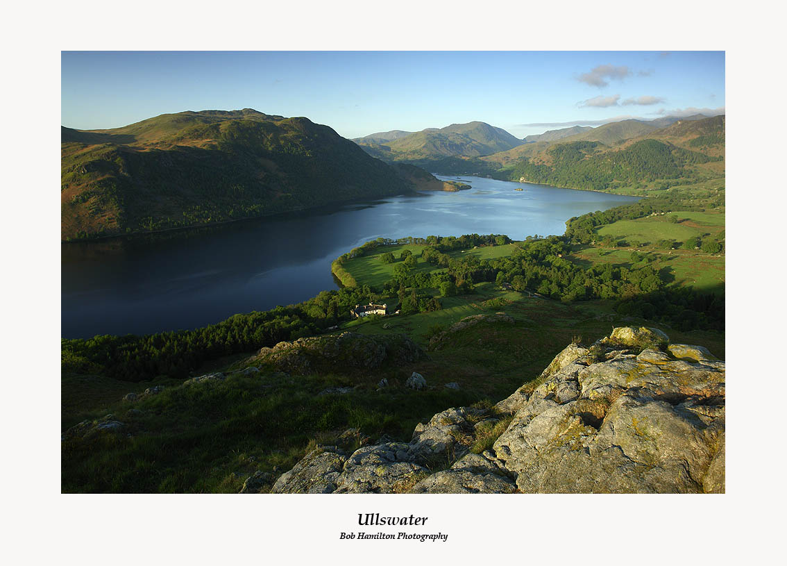 Early morning light on Ullswater from Gowbarrow Fell