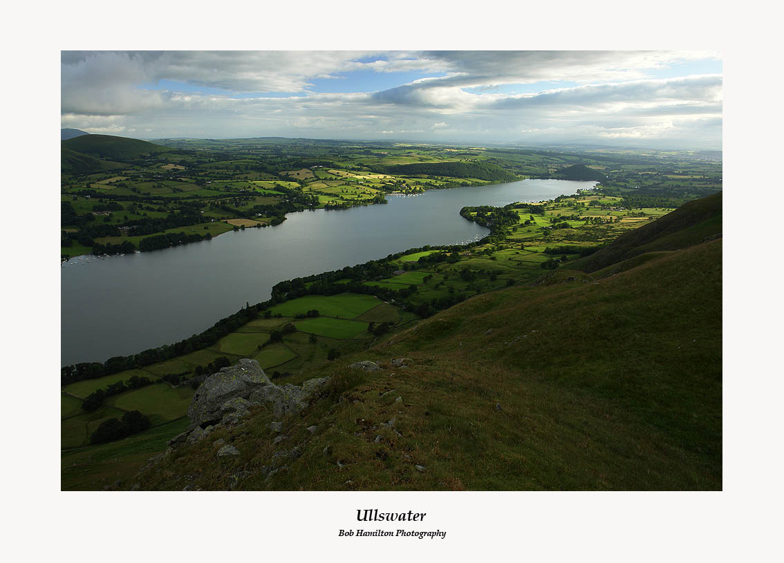 Ullswater and Pooley Bridge from Bonscale Pike