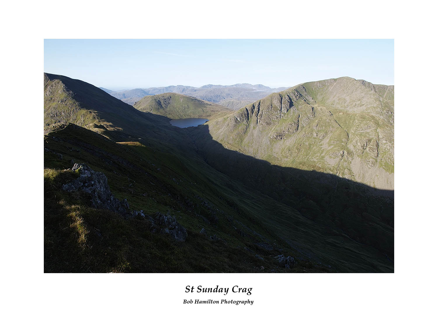 DSF1020 Coffa Pike Seat Sandal Grisedale Tarn and Dollywagon Pike from St Sunday Crag